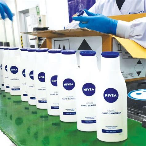 nivea alihkan sebagian  produksi  hand sanitizer swacoid
