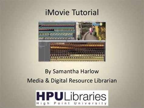 imovie tutorial for slideshow intro to imovie