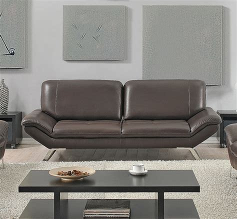 modern roxi italian leather sofa chocolate modern