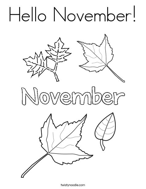 coloring page for november hello november coloring page twisty noodle