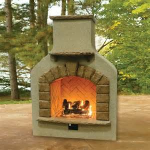 sonoma outdoor gas fireplace with log set