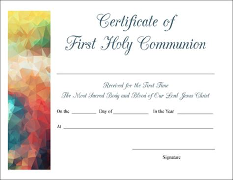 confirmation certificates templates free printable baptism communion and confirmation