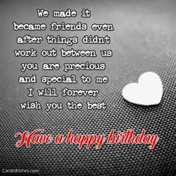 birthday wishes for ex girlfriend cards wishes