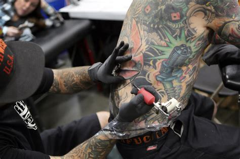 virginia beach tattoo festival thousands flock to festival for the quot big jumbled