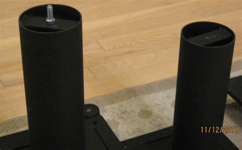 Home Theater Fuze Avs 3100 modded partsexpress speaker stands avs forum home theater discussions and reviews