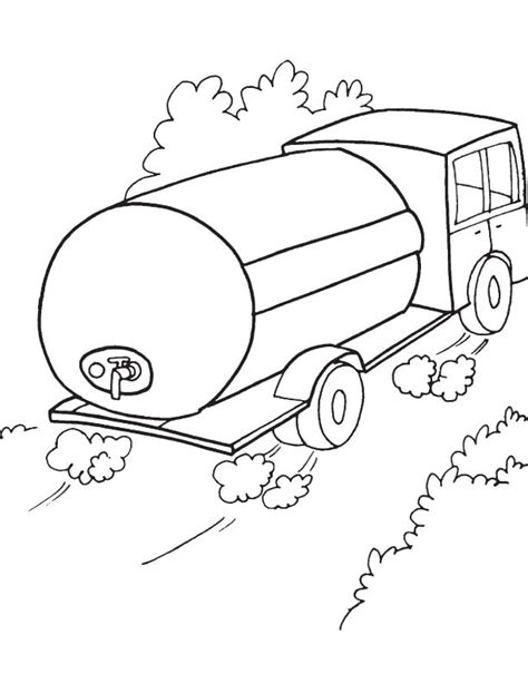 oil truck coloring page water tank truck coloring page download free water tank