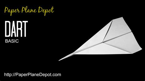 How To Make Paper Darts - basic dart paper plane depot
