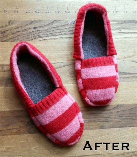 make slippers we can re do it upcycled sweater slippers