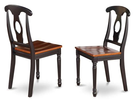 set of 2 dinette kitchen dining chairs with wood seat in