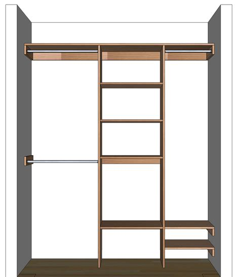 shelving layout diy closet organizer plans for 5 to 8 closet