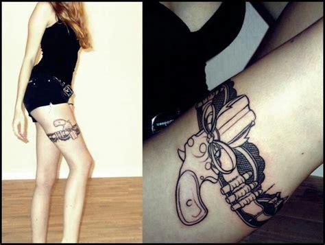 tattoo gun in holster thigh gun garter tattoo i prolly need more tattoos