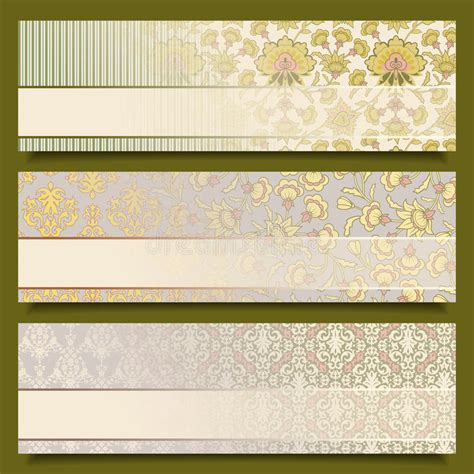 set of floral vector patterns royalty free stock images image 20201649 vintage flower banners retro pattern design set royalty free stock images image 30444529