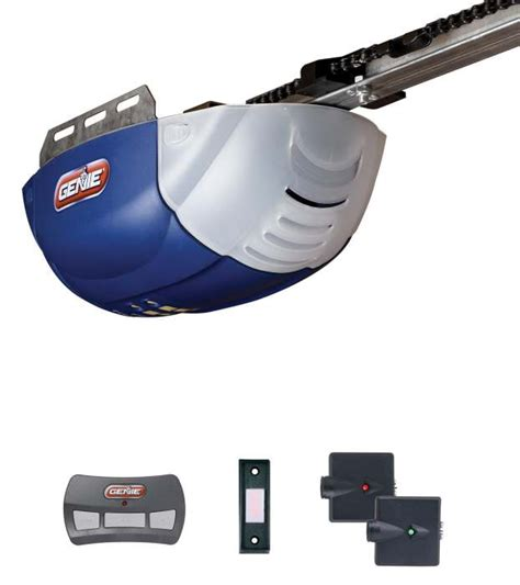 Garage Door Opener No Chain Genie Company 36255r 1 2hp Chain Glide Garage Door Opener