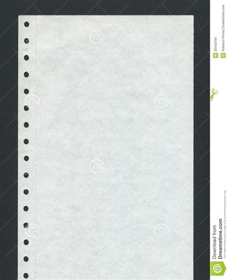 How To Make Perforated Paper - computer paper stock photo image of rows report file