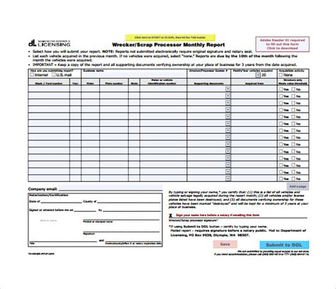 template for monthly report monthly management report template financial account
