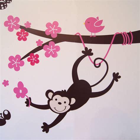 monkey blossom tree wall stickers by parkins interiors buy monkey balloon wall stickers cartoon wall stickers