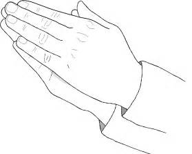 Coloring page praying hands