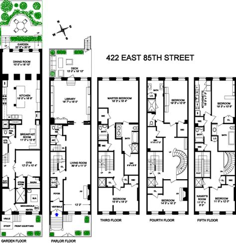 town houses floor plans http streeteasy com nyc sale 618434 townhouse 422 east