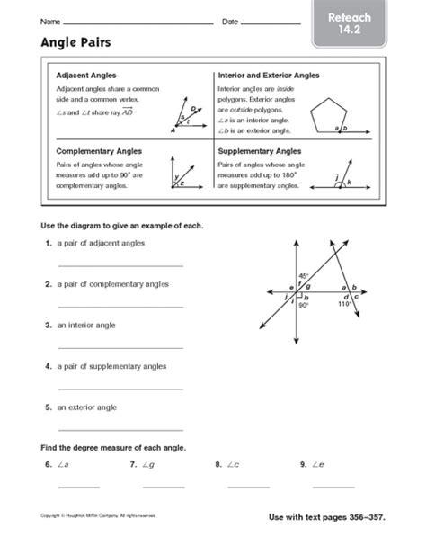 Adjacent Angles Worksheet by Adjacent Angles Worksheet Worksheets For School Getadating