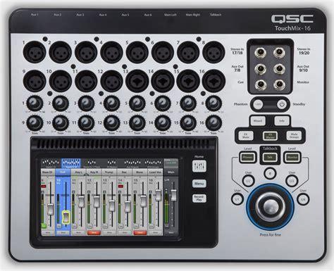 Mixer Digital Qsc qsc touchmix 16 compact digital 16 ch pa mixer pssl