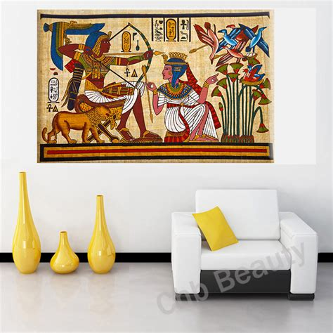 painting decor aliexpress com buy pharaoh egyptian decor canvas painting wall pictures for living room wall