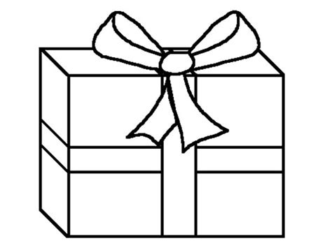 coloring page of christmas presents present coloring page vitlt com