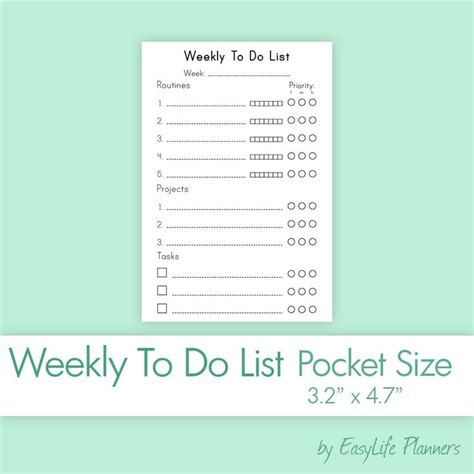 Weekly Insert Regular Size 1000 images about pocket size planners on paper planner inserts and planners