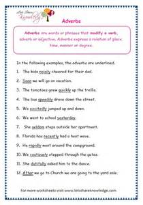 adverbs worksheets for grade 3 with answers laptuoso