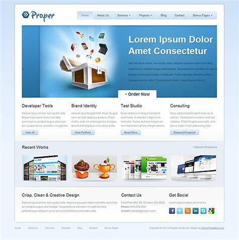 10 free html website templates for business proper free html5 css3 template html5 mania