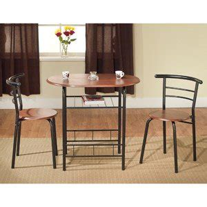 3 bistro set table 2 chairs dinette black space