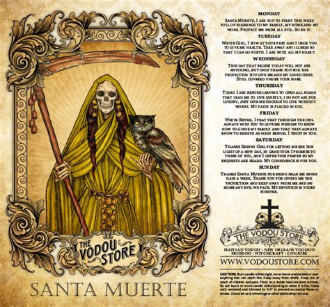 santa muerte images 7 day candle label santa muerte gold the vodou store