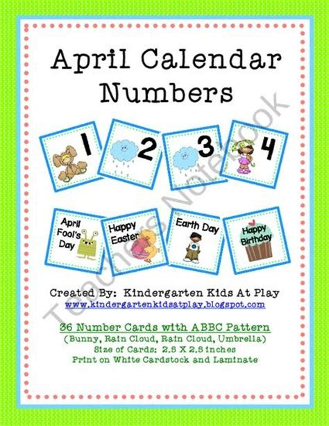 pattern calendar numbers april calendar numbers with patterns from kindergarten