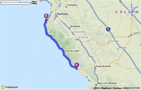 san jose ca mapquest driving directions from san simeon california to monterey