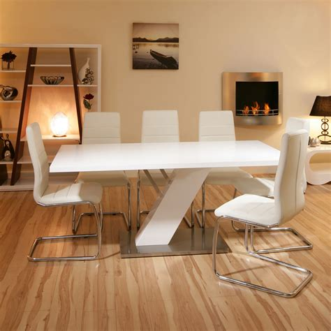 modern white dining room set furniture mommyessence