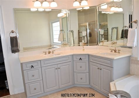 Painted Bathroom Cabinets Ideas Painting Bathroom Cabinets Master Bath Makeover Hueology Studio