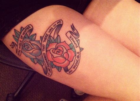 cute thigh tattoos quotes on thighs quotesgram