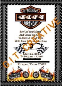 Harley Davidson Invitations by Harley Davidson Birthday Invitation Invitations