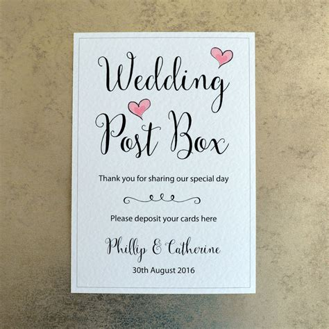 Wedding Card Sign by Wedding Post Box Card Sign Personalised With Groom
