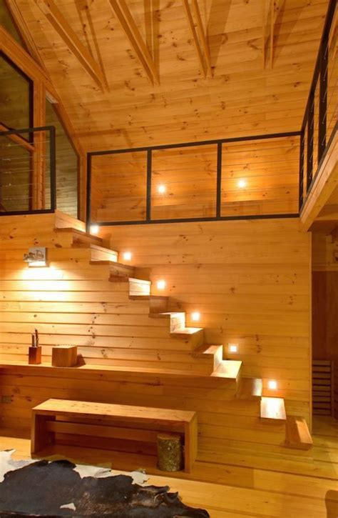 log home lighting design 15 modern staircases with spectacular lighting