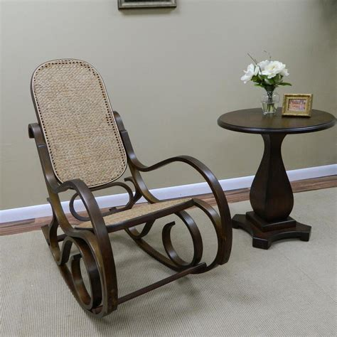 Arm Chair Rocker - carolina cottage bentwood chestnut wood rocking