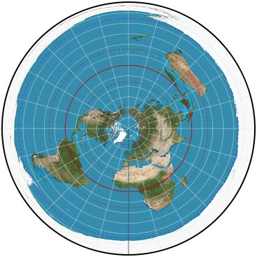flat earth equidistant map projection travel times in australia