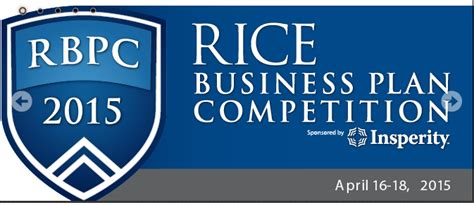 Rice Mba Calendar by 2015 Rice Business Plan Competition Graduate