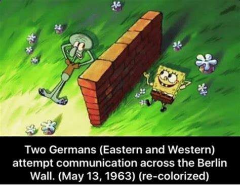 Berlin Meme - two germans eastern and western attempt communication