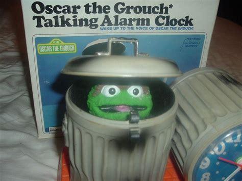 collectible sesame oscar the grouch bradley talking alarm clock w box talking alarm