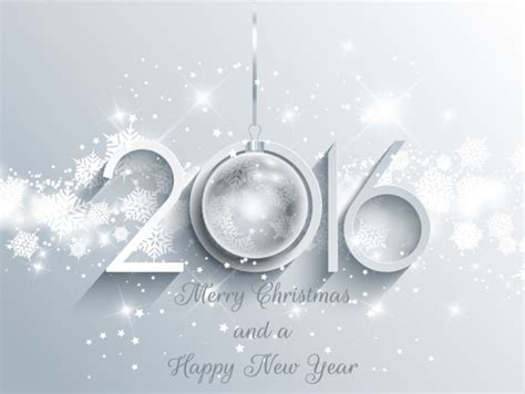 new year 2016 white background bright new year background in white color vector free