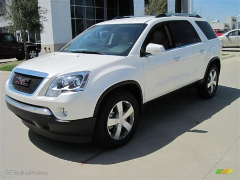 2010 white tricoat gmc acadia slt 28759399 gtcarlot car color galleries