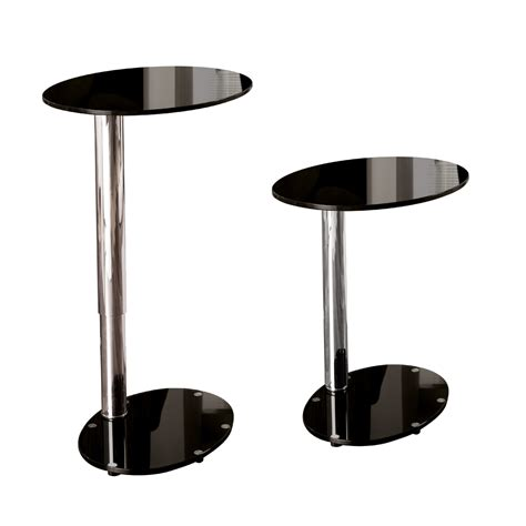 Adjustable Side Table Tomasz Adjustable Oval Side Table Black Dwell
