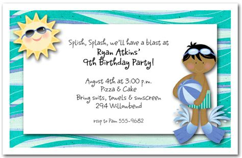 swimming invitation template swimming invitations theruntime