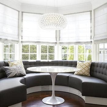 Bay Window Banquette by White Tufted Curved Banquette Design Decor Photos