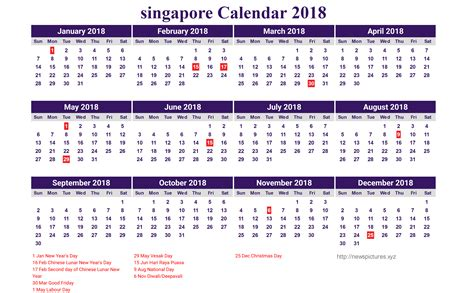 new year 2018 holidays in singapore 2018 calendar singapore singapore